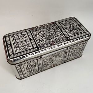 Chivas Regal Scotch Collector Tin Box Hinged Lid